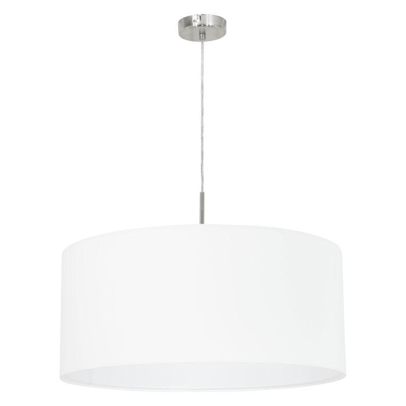 Eglo-31575 - Pasteri - White with Satin Nickel Single Pendant