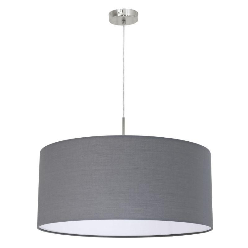 Eglo-31577 - Pasteri - Grey & White with Nickel Single Pendant