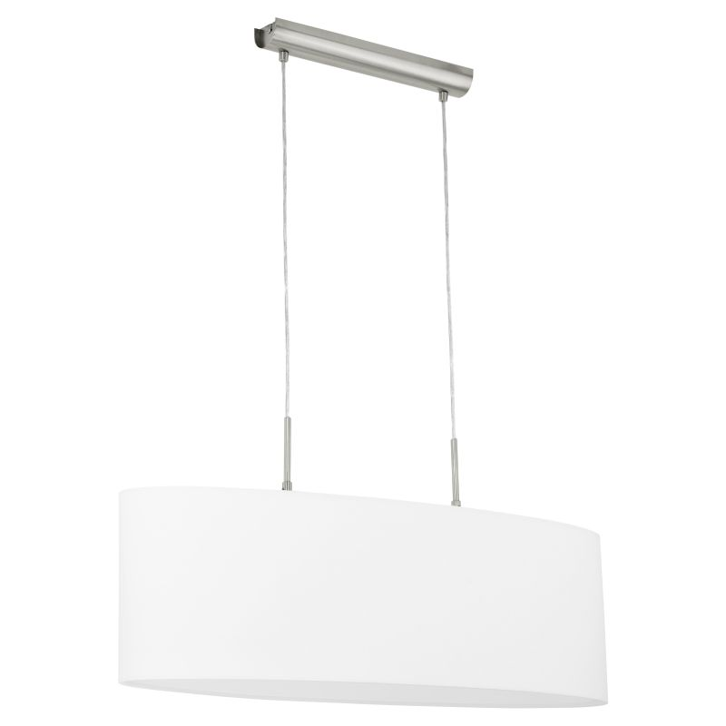 Eglo-31579 - Pasteri - White with Satin Nickel over Island Fitting