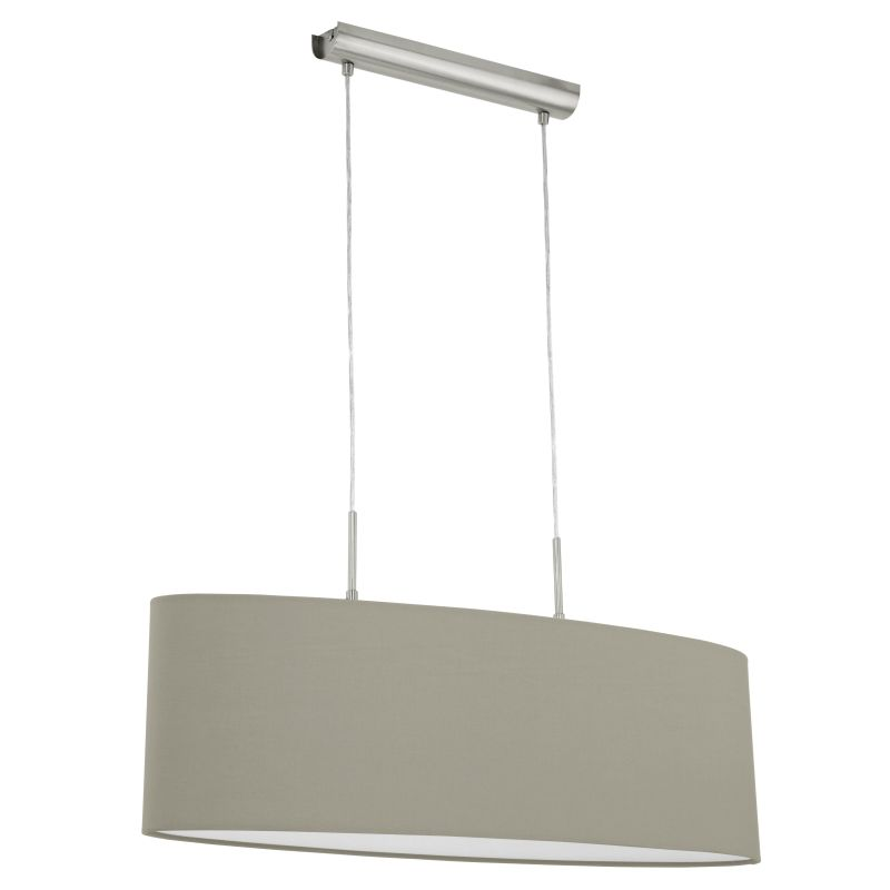 Eglo-31581 - Pasteri - Taupe & White with Nickel over Island Fitting