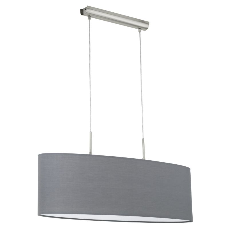 Eglo-31582 - Pasteri - Grey & White with Nickel over Island Fitting