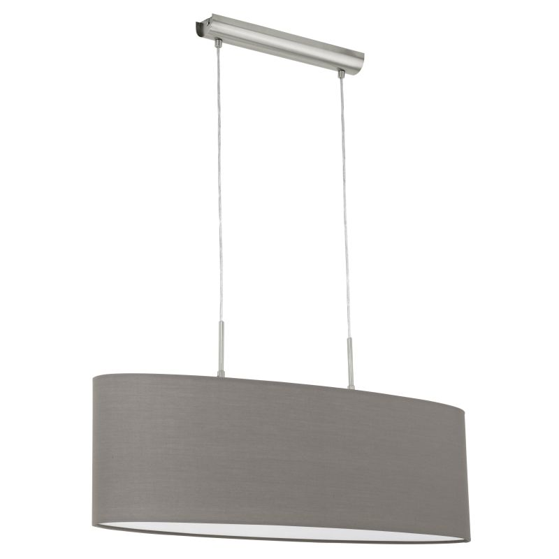 Eglo-31583 - Pasteri - Brown & White with Nickel over Island Fitting