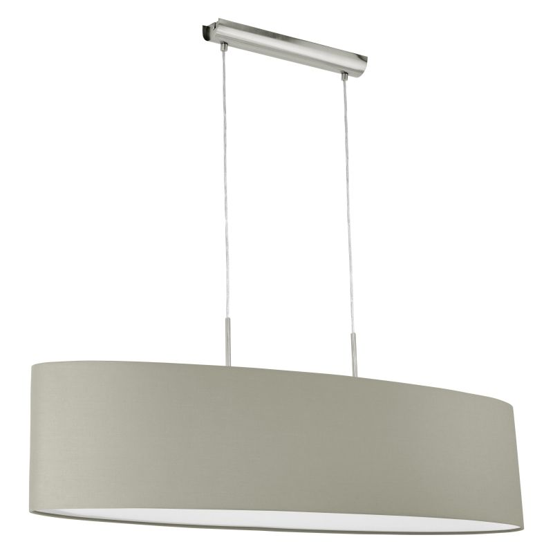 Eglo-31585 - Pasteri - Taupe & White with Nickel over Island Fitting