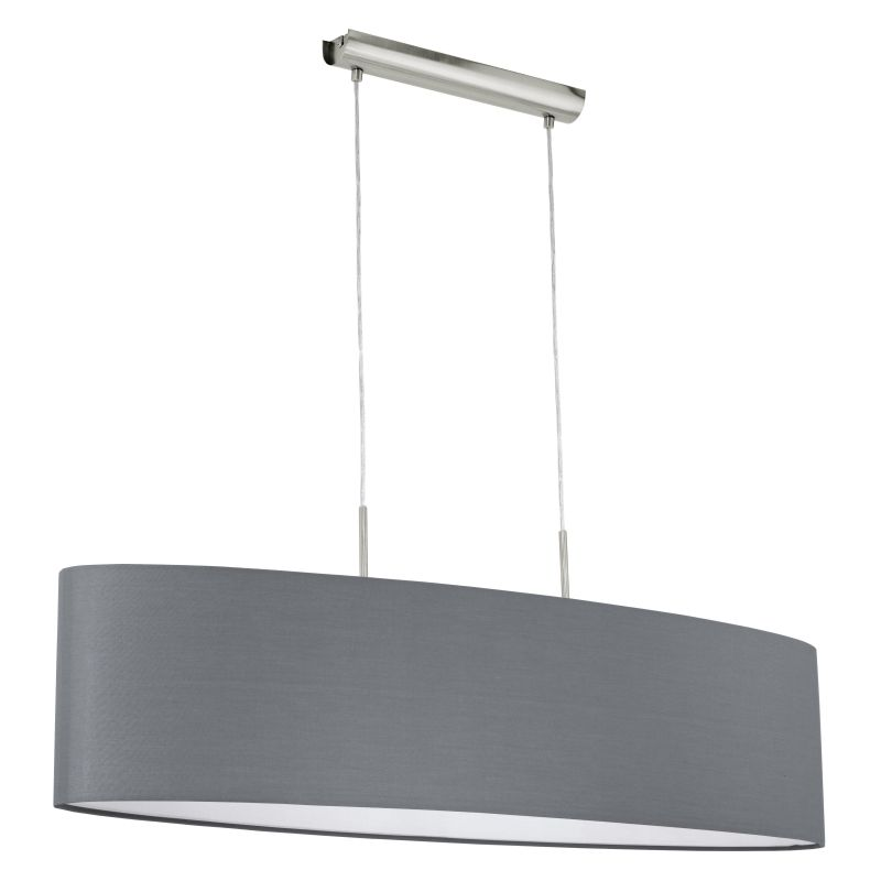Eglo-31586 - Pasteri - Grey & White with Nickel over Island Fitting