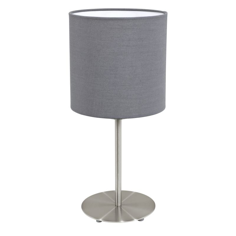 Eglo-31596 - Pasteri - Grey & White with Nickel Table Lamp