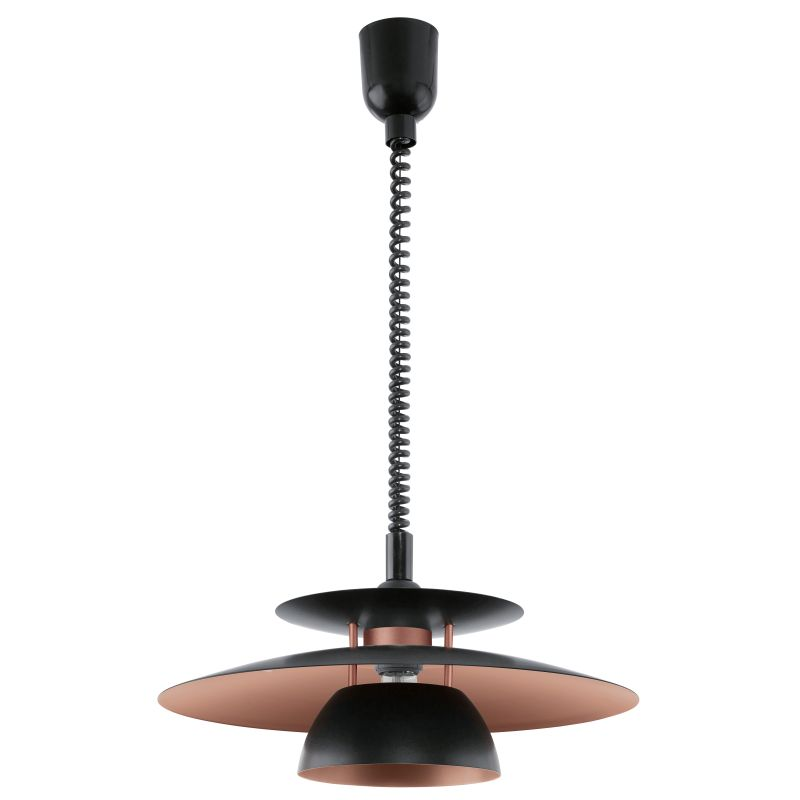 Eglo-31666 - Brenda - Black with Copper Single Hanging Pendant