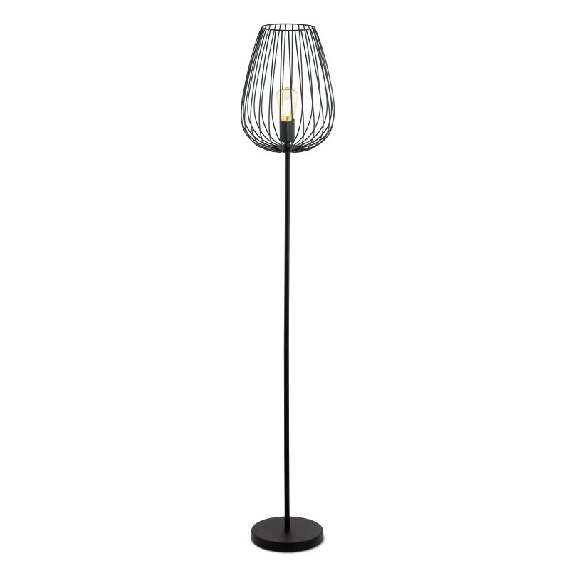 Eglo-49474 - Newtown - Vintage Black Cage Floor Lamp