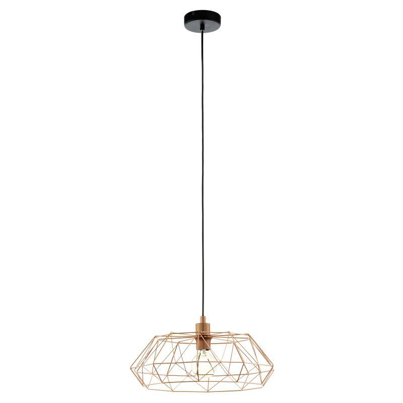 Eglo-49488 - Carlton 2 - Vintage Copper Cage Pendant