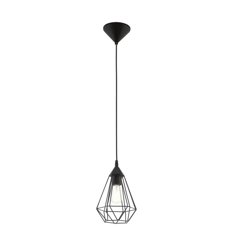 Eglo-94187 - Tarbes - Vintage Black Cage Single Pendant
