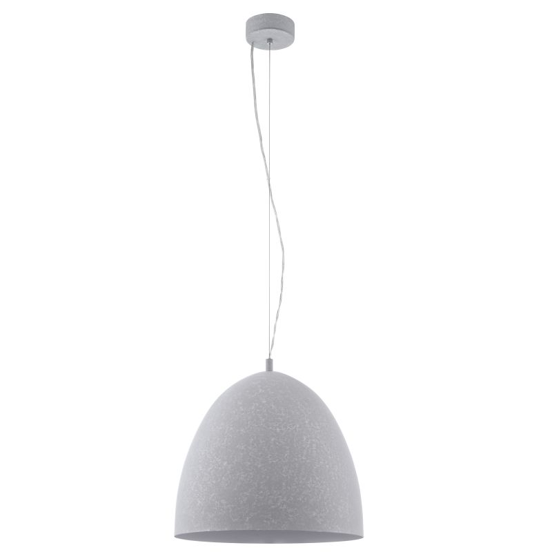 Eglo-94354 - Sarabia - Big Grey Single Hanging Pendant