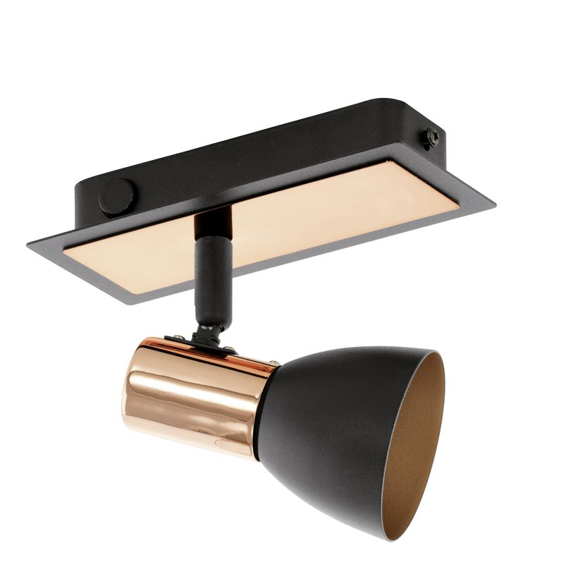 Eglo-94584 - Barham - Black and Copper Single Spotlights