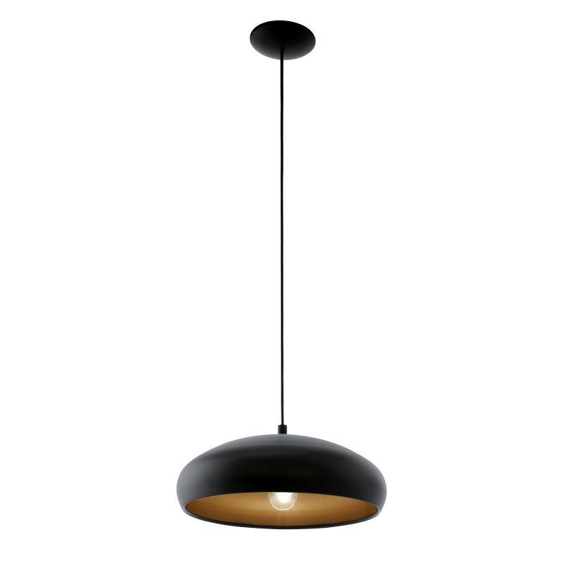 Eglo-94605 - Mogano 1 - Black and Copper Single Pendant