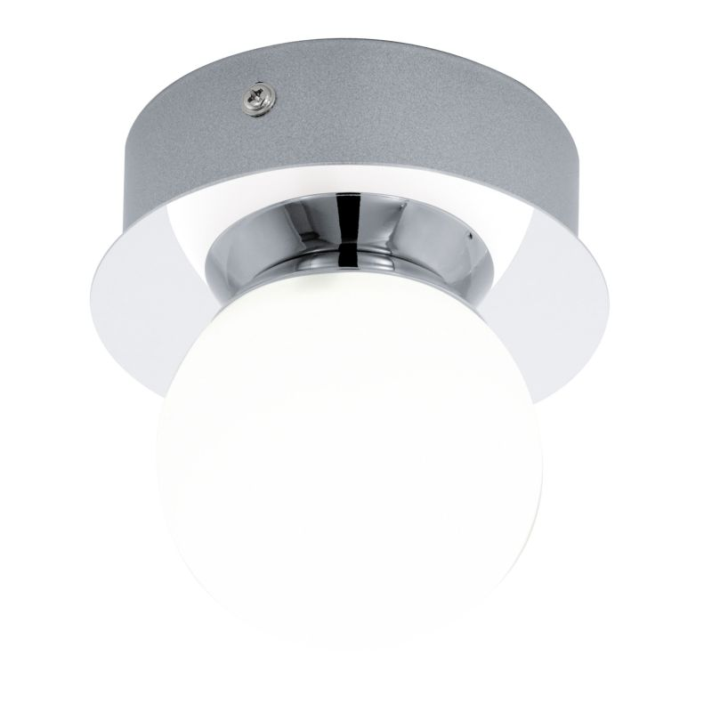 Eglo-94626 - Mosiano - Bathroom Chrome with White Globe Wall/Ceiling Lamp