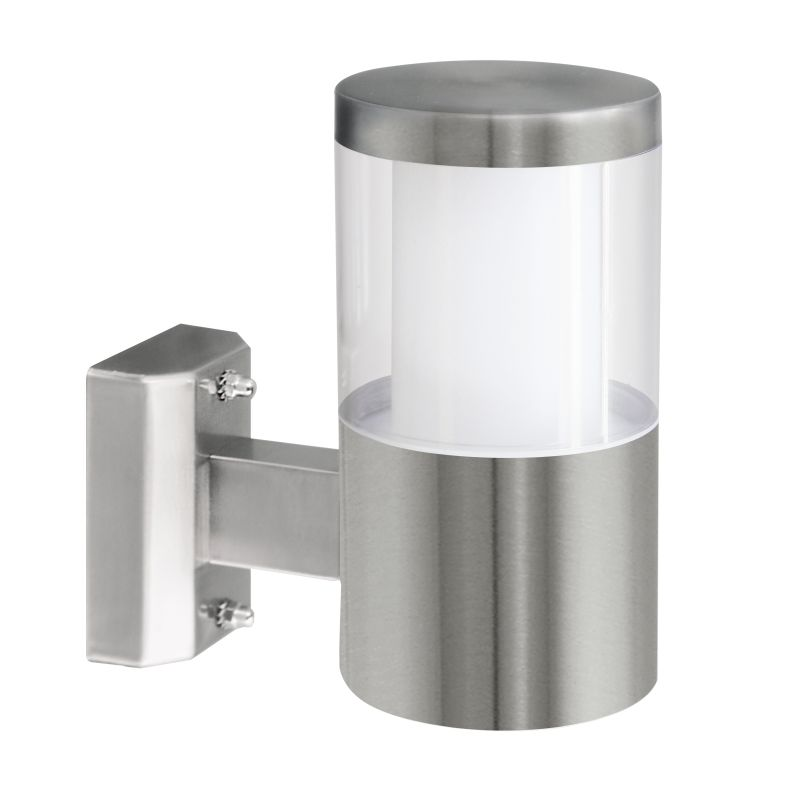 Eglo-94277 - Basalgo 1 - LED Stainless Steel with Clear Wall Lamp