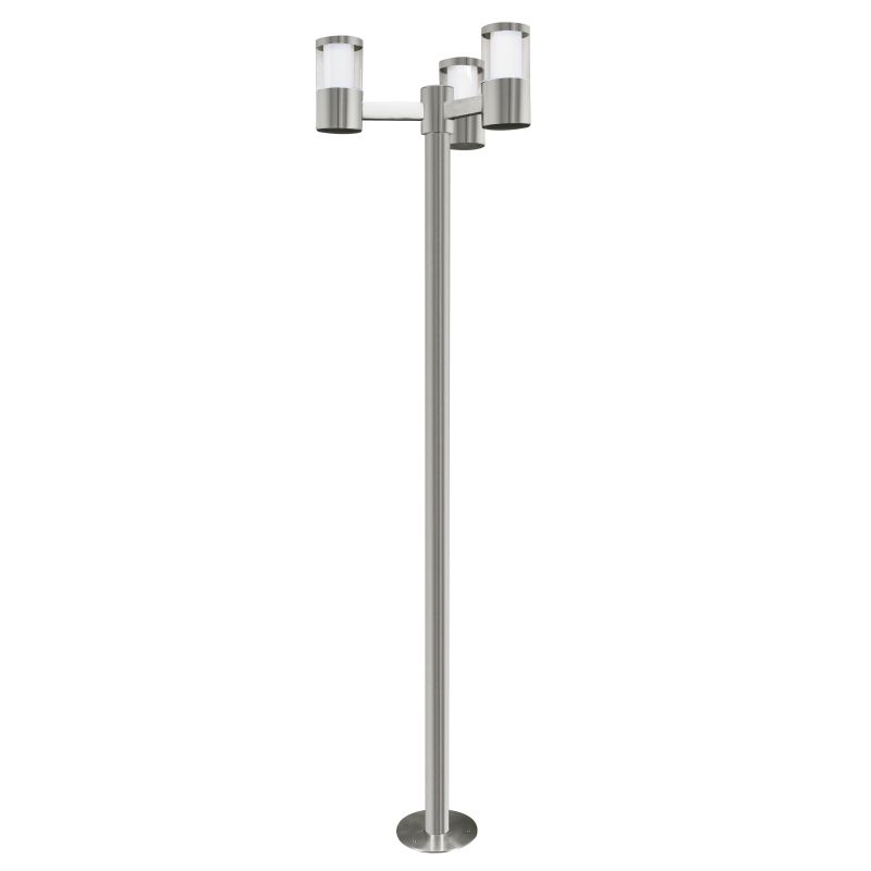 Eglo-94281 - Basalgo 1 - LED Stainless Steel with Clear 3 Light Bollard
