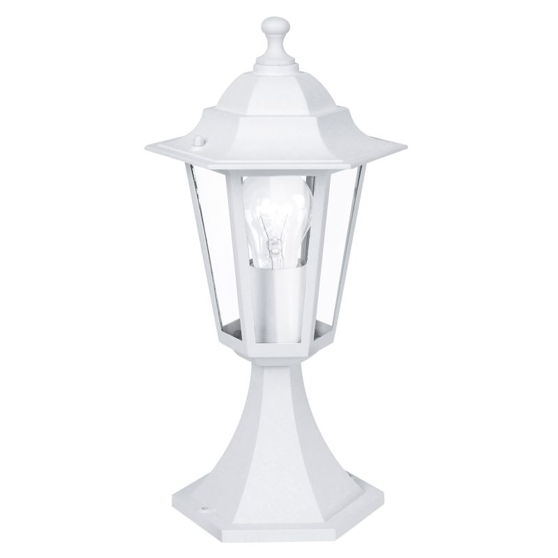 Eglo-22466 - Laterna 5 - Small White and Clear Glass Traditional Lantern Post