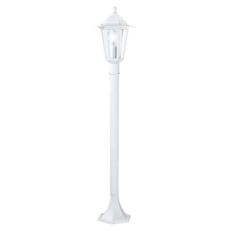 Eglo-22995 - Laterna 5 - Medium White and Clear Glass Traditional Lantern Post
