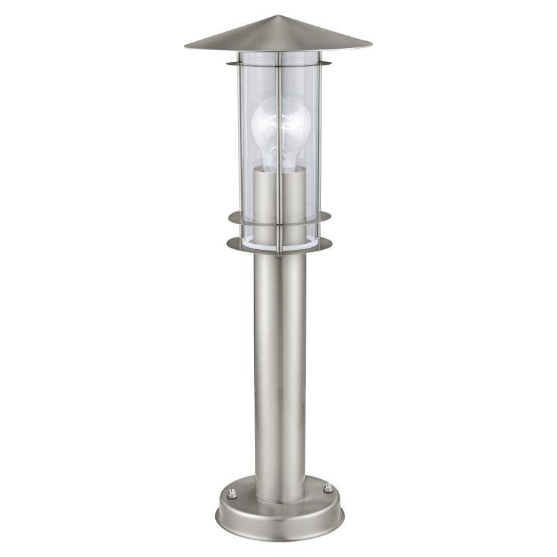 Eglo-30187 - Lisio - Modern Clear Glass with Stainless Steel Lantern Small Post