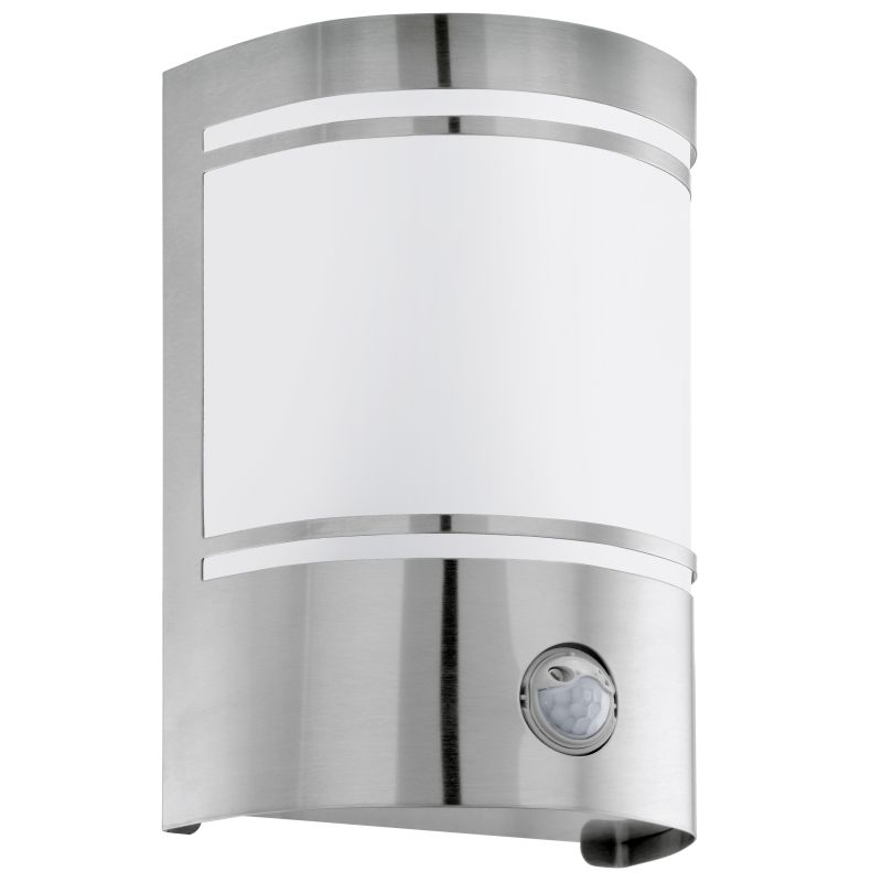 Eglo-30192 - Cerno - Stainless Steel with White Glass Sensor Wall Lamp