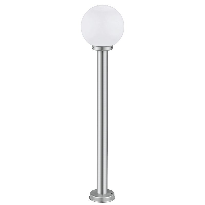 Eglo-30207 - Nisia - Stainless Steel with White Globe Big Post