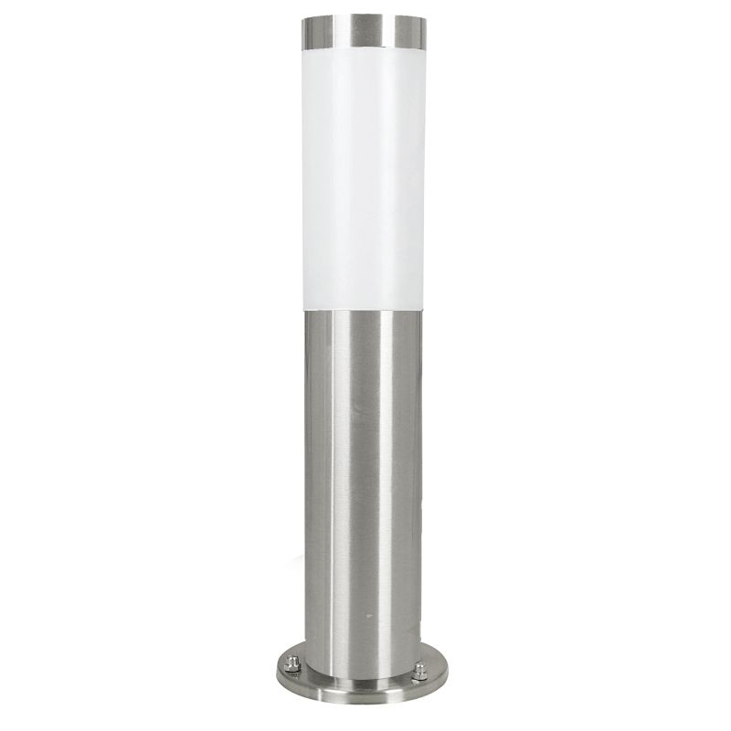 Eglo-81751 - Helsinki - Stainless Steel with White Diffuser Small Bollard