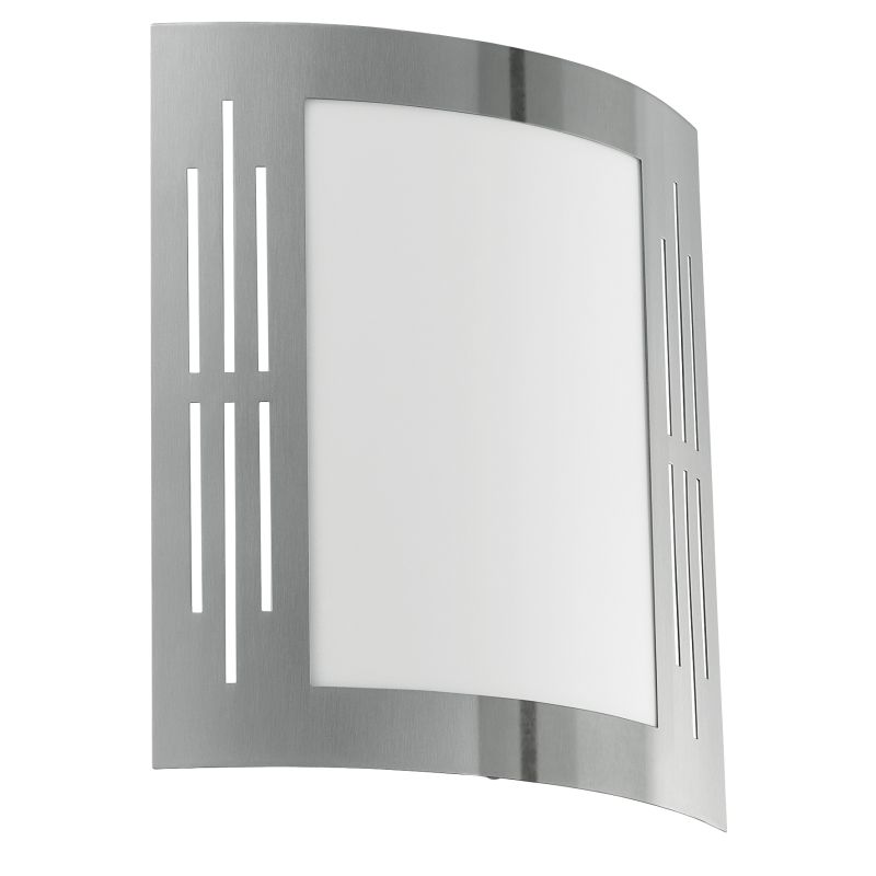 Eglo-82309 - City - Stainless Steel with White Wall Lamp
