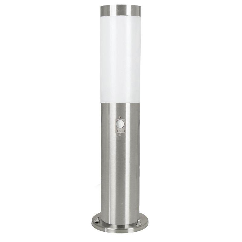 Eglo-83279 - Helsinki - Stainless Steel with White Diffuser Small Sensor Bollard