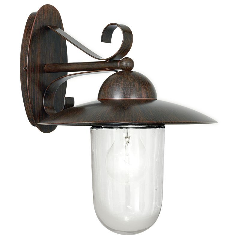 Eglo-83589 - Milton - Antique Brown with Clear Glass Wall Lamp