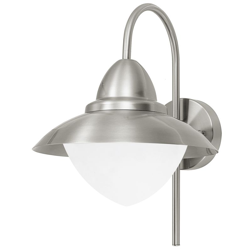 Eglo-83966 - Sidney - Stainless Steel with White Glass Wall Lamp