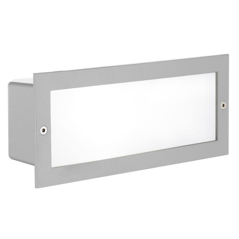 Eglo-88008 - Zimba - Outdoor Silver Recessed Brick Light