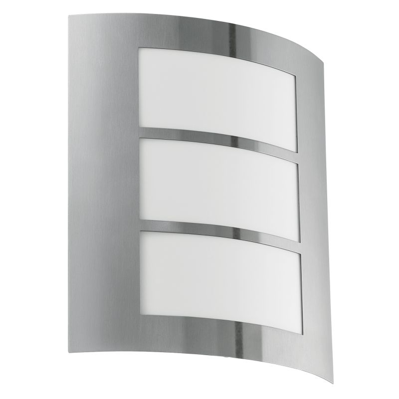 Eglo-88139 - City - Stainless Steel with White Wall Lamp