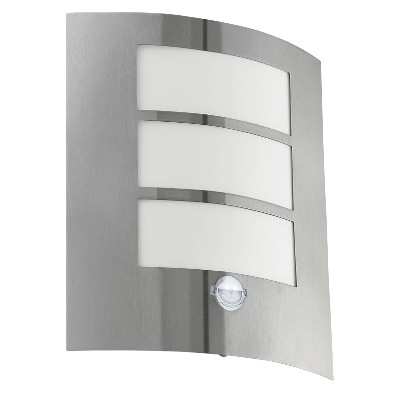 Eglo-88142 - City - Stainless Steel with White Sensor Wall Lamp