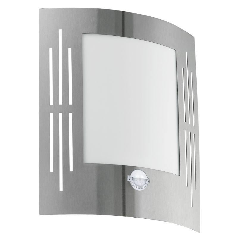 Eglo-88144 - City - Stainless Steel with White Sensor Wall Lamp