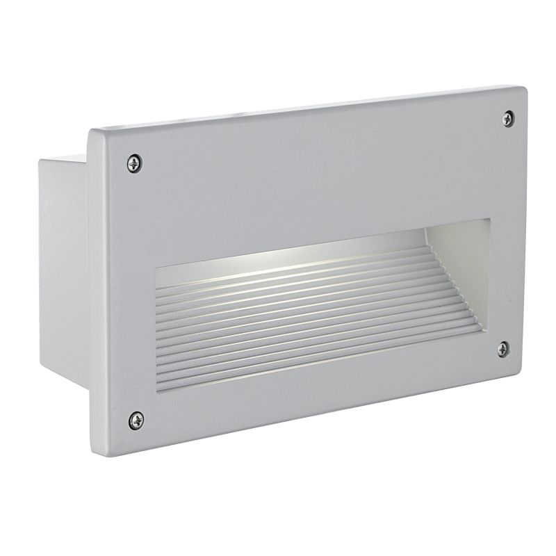 Eglo-88575 - Zimba - Outdoor Silver with Glass Recessed Brick Light