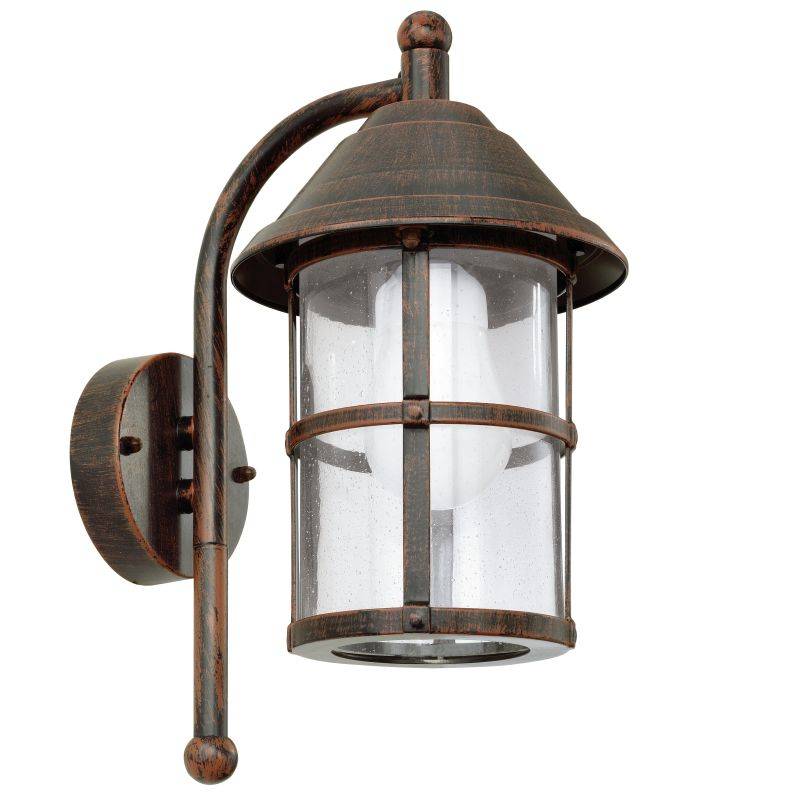Eglo-90184 - San Telmo - Antique Brown with Clear Glass Lantern Wall Lamp