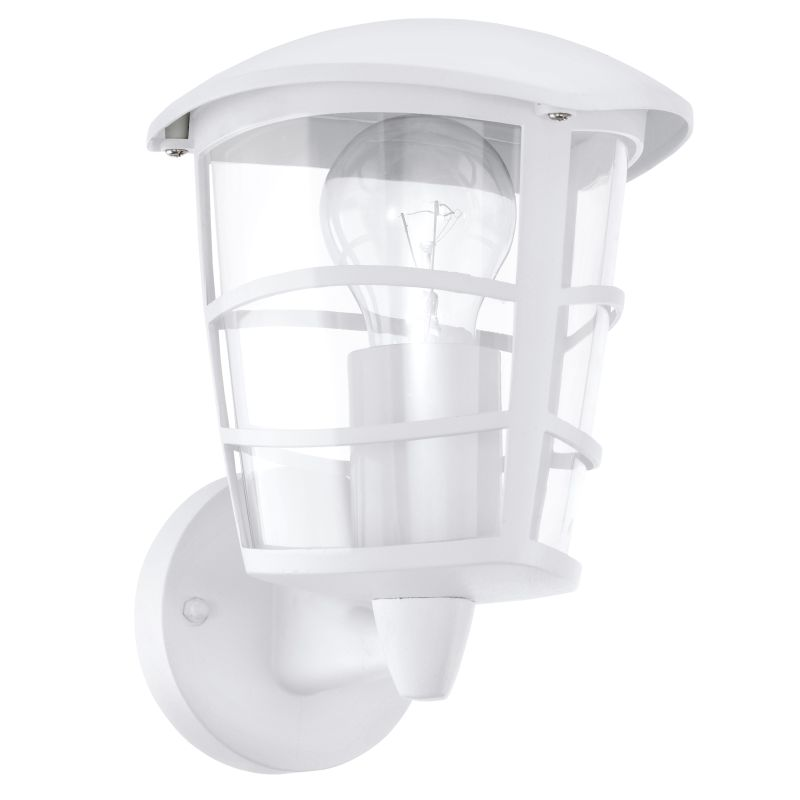 Eglo-93094 - Aloria - White with Clear Acrylic Uplight Wall Lamp