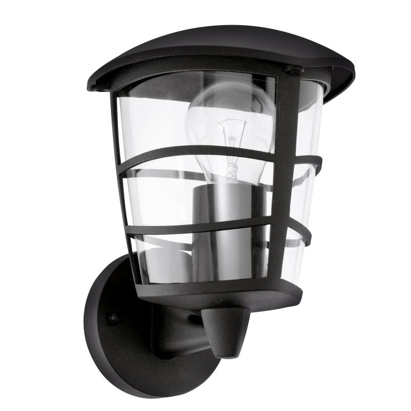 Eglo-93097 - Aloria - Black with Clear Acrylic Uplight Wall Lamp