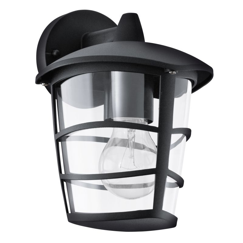 Eglo-93098 - Aloria - Black with Clear Acrylic Downlight Wall Lamp
