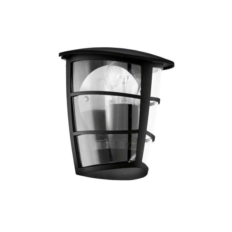 Eglo-93407 - Aloria - Black with Clear Acrylic Wall Lamp