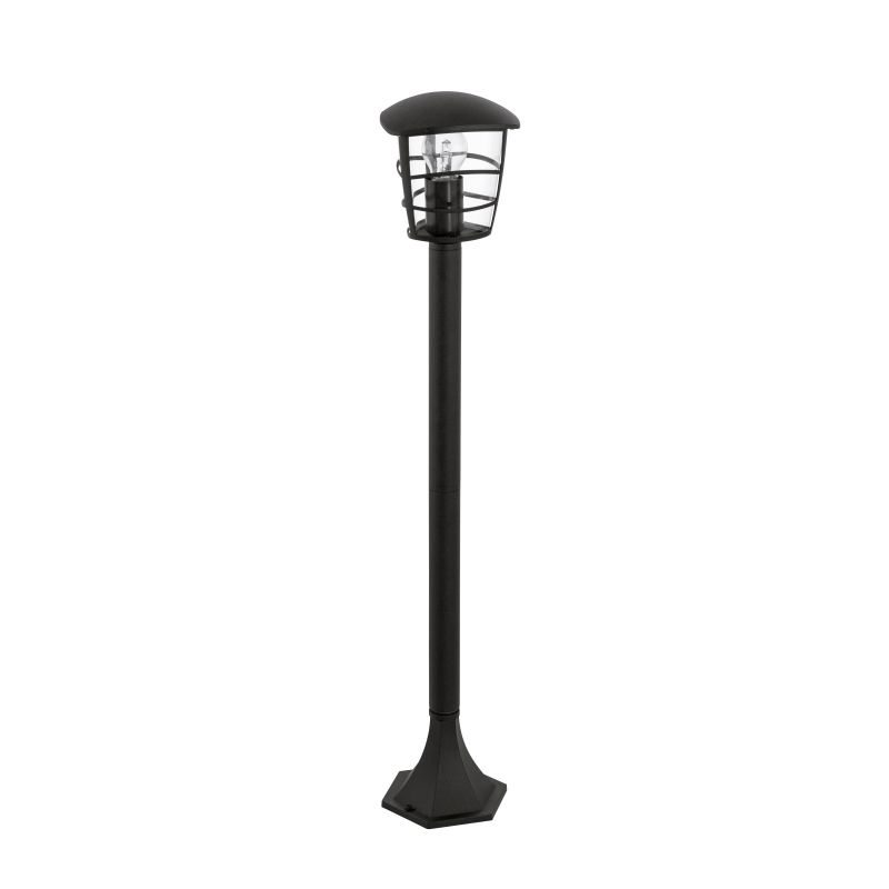 Eglo-93408 - Aloria - Black with Clear Acrylic Medium Post