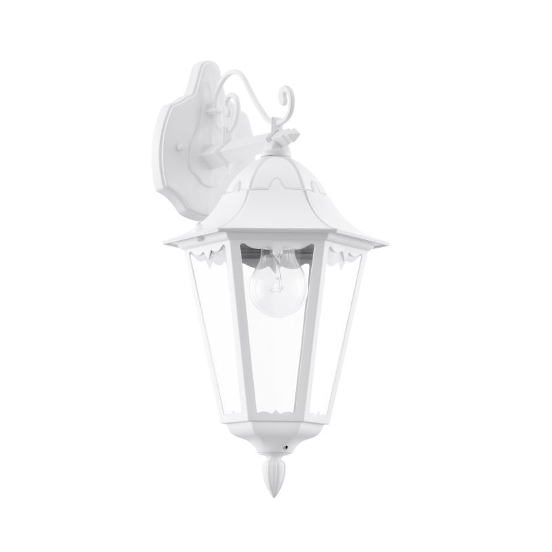 Eglo-93445 - Navedo - Outdoor White with Clear Glass Downlight Wall Lamp