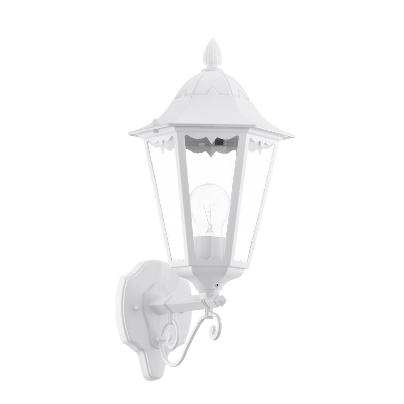 Eglo-93446 - Navedo - Outdoor White with Clear Glass Uplight Wall Lamp