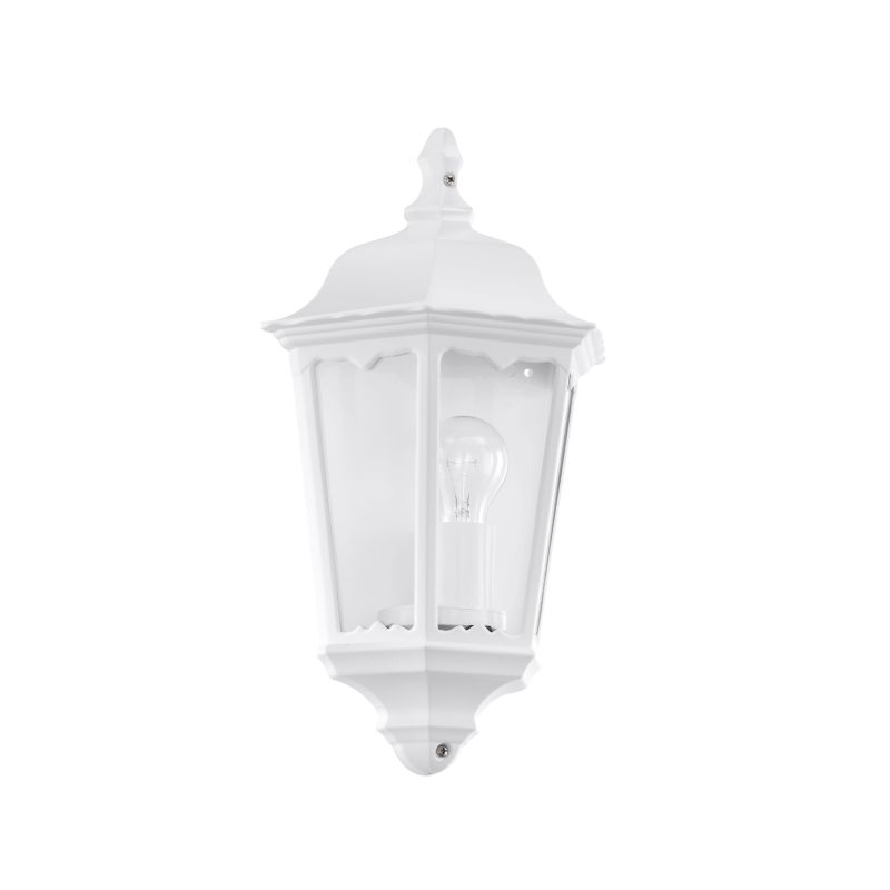 Eglo-93448 - Navedo - Outdoor White with Clear Glass Half Wall Lamp