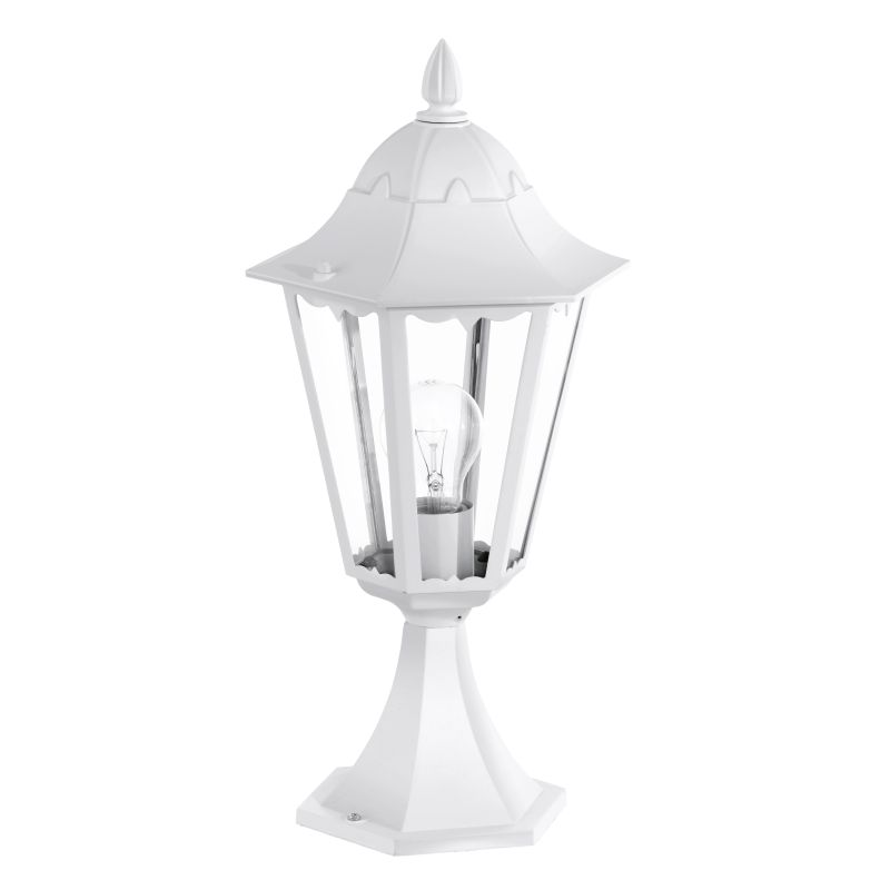 Eglo-93451 - Navedo - Outdoor White with Clear Glass Small Post