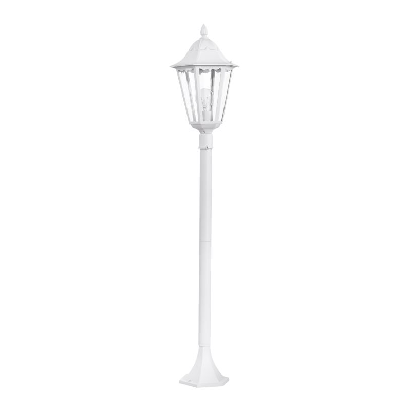 Eglo-93452 - Navedo - Outdoor White with Clear Glass Medium Post