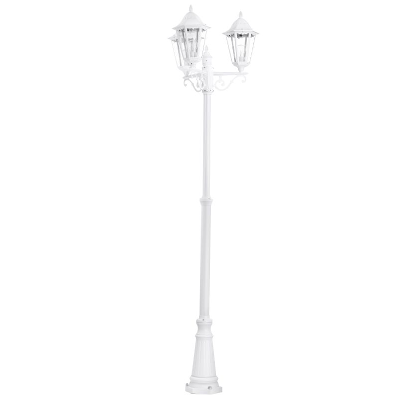 Eglo-93454 - Navedo - Outdoor White with Clear Glass 3 Light Post