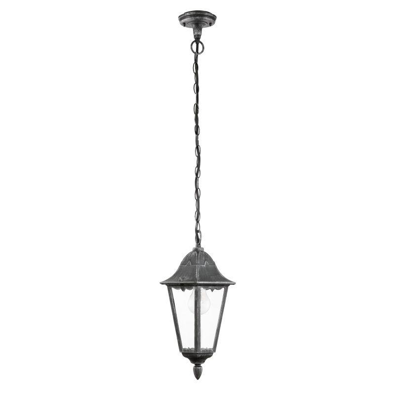 Eglo-93455 - Navedo - Outdoor Black with Clear Glass Pendant