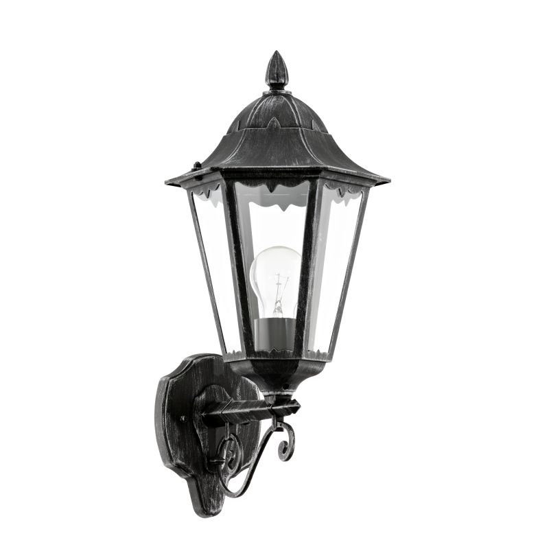 Eglo-93457 - Navedo - Outdoor Black with Clear Glass Uplight Wall Lamp