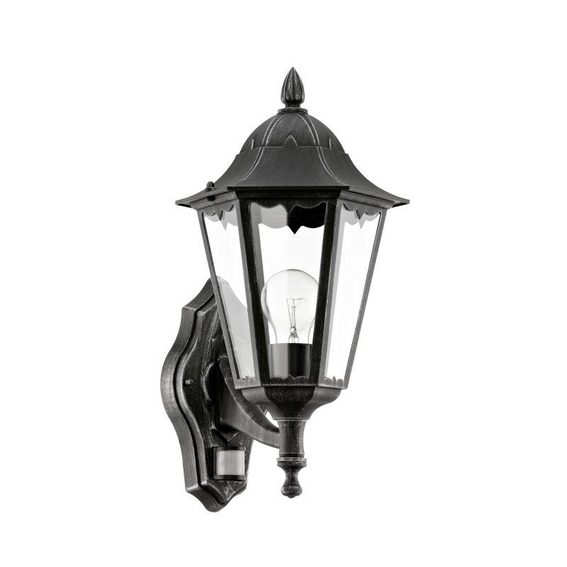 Eglo-93458 - Navedo - Outdoor Black with Clear Glass Sensor Wall Lamp