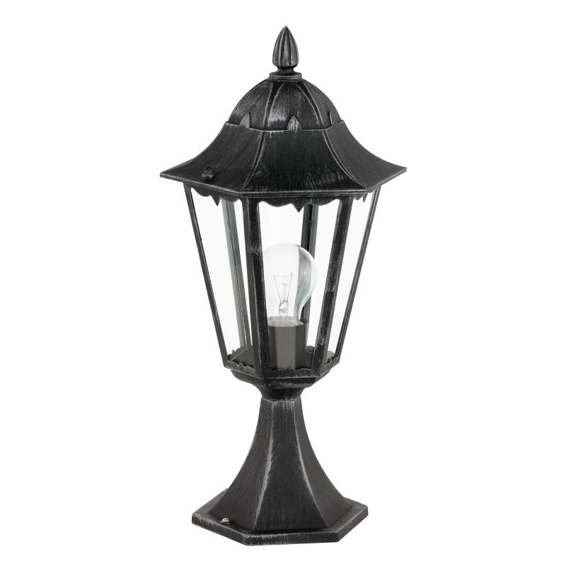 Eglo-93462 - Navedo - Outdoor Black with Clear Glass Small Post